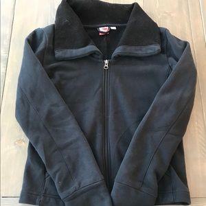 Puma black zip up sweatshirt